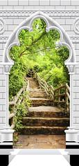 Papier-peint pour porte Photo wallpaper Gothic arch and stone staircase I (emmanuel_delahaye) Tags: papier mobilier deco artgeist recollection decointerior interiordesign design home décoration papierspein