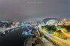 Newcastle Quayside (Mark Graham Landscape Photography) Tags: newcastle quayside night sage modern structure river tyne lighttrails