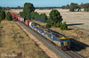 North of Nagambie (Henry's Railway Gallery) Tags: g515 b76 g512 gclass bclass emd diesel clyde cfcla chicagofreightleasingaustralia qubelogistics freighttrain containertrain 9375 tocumwal nagambie