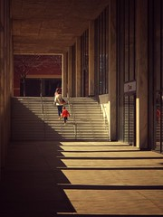 Passing through (nixter) Tags: stairs lines libes shadowplay shadows nebraska omaha downtown woodman