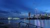 Calm (elenaleong) Tags: tgrhubluehour waterfrontskyline singaporelandmark singaporeflyer mbs gardenbythebay domes elenaleong