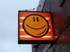 Happy Drugs (knightbefore_99) Tags: happy drugs lsd smile venables sign neon cool eastvan vancouver bc west coast best funny orange sunshine tab