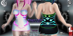 *NW* Winged Cyber Corset (NeverWish) Tags: nw neverwish cyber goth scifi secondlife