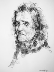 P1017611 (Gasheh) Tags: art painting drawing sketch portrait old woman charcoal pencil gasheh 2018