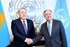 President Nursultan Nazarbayev of Kazakhstan and UN Secretary General António Guterres (NY 18/01/18) (kzembassykl) Tags: kazakhstan kazakhstanembassy kazakhstanpresident kazakhstanunsc kazakhstannucleardisarmament astana