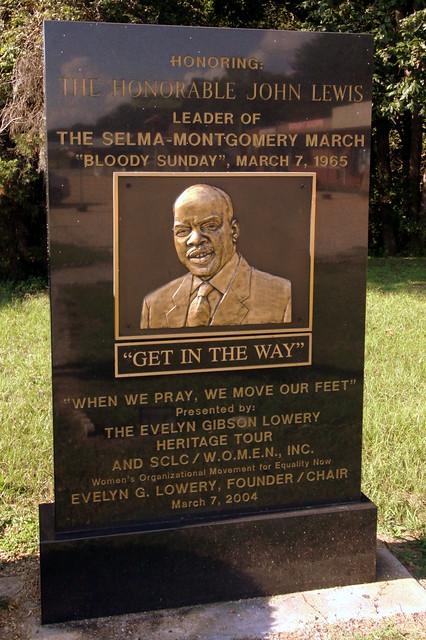John Lewis - Civil Rights Memorial Park, Selma, AL