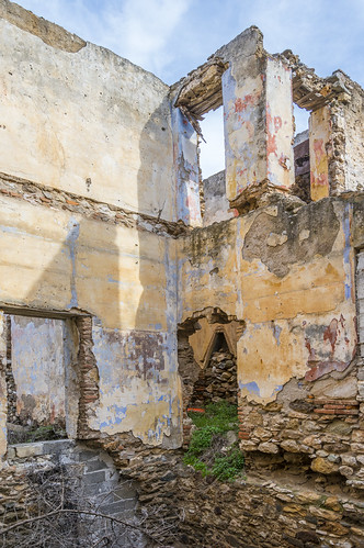 Abandoned building in the main silver mining site of Agios Konstantinos - Attica Greece
