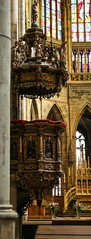 2017Danube-9281 (Cache Scouter) Tags: 2017 cz czechrepublic danube flowers other prague praguecastle stvitus stvituscathedral stvitusinterior altar arch cruise gold nave pulpit stainedglass window czechia faved