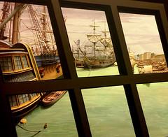View from British Merchant Ship, Calcutta -- 1780s (JFGryphon) Tags: calcutta 1775 hooghlyriver britisheastindiacompany happywindowwednesday hww ganges sacredtohindus greenishwater