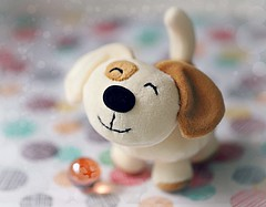 A smile for today (Through Serena's Lens) Tags: marble dof bokeh smile cute happy dog toy soft crazytuesdaytheme smalltoysminifigures 7dwf