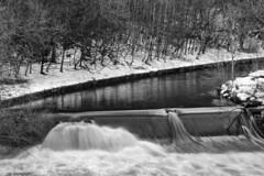 The river almond (John Campbell 2016) Tags: river almond livingston westlothian scottish photography photographer blackandwhite white long exposure snow trees canon1300d canon