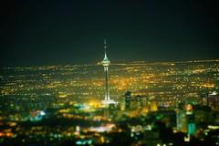 Milad Tower . . . (davoodghaeni) Tags: tower milad iran night citylights miladtower tehran