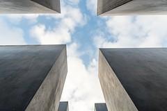 Alienation 2 (genf) Tags: holocaust monument berlin berlijn frog view kikkerperspectief low laag upward boven clouds wolken concrete beton sony a99ii outside buiten