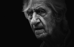 *., (dagomir.oniwenko1) Tags: men male man mono street style sigma canon candid canoneos60d blackandwhite bw skegness oldman portrait person portret people portraits ritratto retrato lincolnshire life england eyes wrinkles