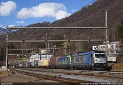 BLS Modern Power! (Marco Stellini) Tags: bombardier traxx 3 187 siemens vectron 475 193 monteceneri swiss alps transit gotthard bls cargo railpool