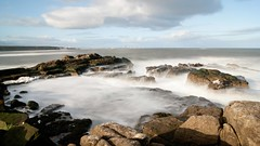 Misty Waters (WISEBUYS21) Tags: misty waters water blue sky clouds cloud long exposure rock pool rocks boulders foam white dark sea seascape coast coastal coastline side shore channel mist fog st marys lighthouse waves crashing breaking fret horses rule thirds panorama panoramic northshields northumberland northumbria northeastofengland north tynside near newcastle upon tyne english wisebuys21