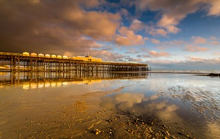 Reflections of a rebuild - Hastings Pier - Sussex