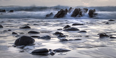 Incoming! Dollar Cove (Andrew Hocking Photography) Tags: dollarcove gunwalloe cornwall seascape landscape lowlight night aftersunset sea ocean rocks coast