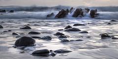 Incoming! Dollar Cove (Andrew Hocking Photography) Tags: dollarcove gunwalloe cornwall seascape landscape lowlight night aftersunset sea ocean rocks coast nationaltrust