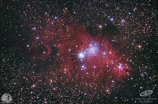 Cone Nebula (NGC 2264) and christmas tree cluster, with canon eos 600D modified and cooled