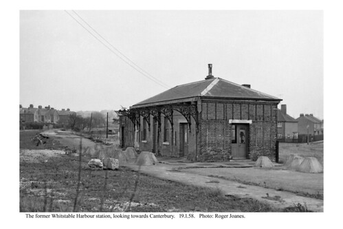 Whitstable Harbour station remains. 19.1.58