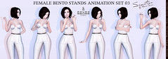 SEmotion Female Bento Stands Animations Set 03 for Sense Event - 5 standing animations (SEmotion by Marie Sims) Tags: sl ao event senseevent semotion animations poses modeling secondlife