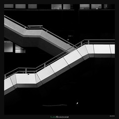 Side Y (Ilan Shacham) Tags: abstract architecture bw blackandwhite stark minimalism stairs y shape form fineart fineartphotography ramatgan telaviv israel city urban