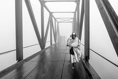 crossing the bridge in a foggy morning, Bangladesh (Siddiqui, sayeed) Tags: cityscape bridge fog monochrome bangladesh