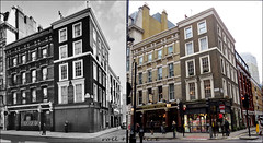 High Holborn`1958-2018 (roll the dice) Tags: london camden wc1 vanished demolished local old history retro bygone sad mad surreal nostalgia comparison pub publichouse boozer beer ale drinking canon tourism changes collection tourists uk art classic england urban fashion streetfurniture architecture oldandnew pastandpresent hereandnow bloomsbury holborn shapland silversmith busstop antiques shops shopping people samuelsmith victorian grade2 listed camra windows chimney folk
