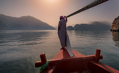 Musandam, Oman (Robert Haandrikman) Tags: khasab oman om beauty beautiful people fisher fishing dhaw fish snorkelling beach rock rocks mountains musandam blue red yellow sun sky water sea dolphin dolphins cruise