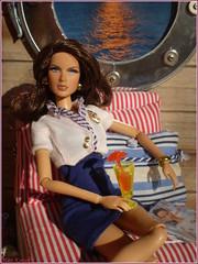 All Aboard (Mary (Mária)) Tags: barbie mattel doll toys fashion aboard sea ship navy diorama sunset jamesbond octopussy fashionfever fashionistas daria azchallenge az handmade marykorcek