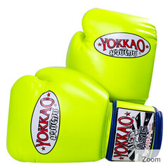 Yokkao Synthex Neon Yellow Boxing Gloves (A1 Fight Gear) Tags: yokkaomuaythaitshirts yokkao boxing gloves shorts ankle guards carbonfit muay thai pro tshirts