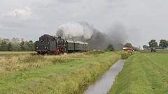 Wildervank SSN 01 1075 met passagierstrein Stadskanaal (Rob Dammers) Tags: stadskanaal onder stoom 2017 nl steam train trein damp