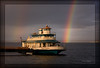 The Rainbow Hour (Ernie Misner) Tags: f8andplayinthewinter customwatermarkbrush definebrushpreset erniemisner pointruston tacomawa rainbow nikon d810 tamron90 tamron photoshopcc lightroom nik boat