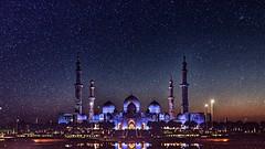 Under the Starry Sky (Sanjiban2011) Tags: abudhabi uae stars sky architecture nature travel sheikhzayeedgrandmosque mosque islamicarchitecture nightphotography night astrophotography nikon d750 fullframe tamron tamron1530