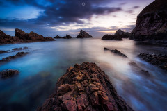 Leading Out (Augmented Reality Images (Getty Contributor)) Tags: portknockie longexposure coastline sunrise water scotland landscape nisifilters waves morning morayfirth canon clouds seascape rocks unitedkingdom gb