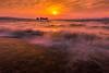 sunset 1654 (junjiaoyama) Tags: japan sunset sky light cloud weather landscape orange yellow pink contrast colour bright lake island water nature wave spring