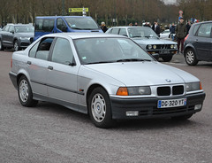 BMW 320i 3 series (E36) 1990-2000, Vincennes, 2018-01-07, (alaindurandpatrick) Tags: bmw bayerischemotorenwerke bmw3series bmwe36 veterancars germanveterancars classicmotorshows traverséedeparis vincennesenanciennes vincennes 94 valdemarne iledefrance greaterparisarea france