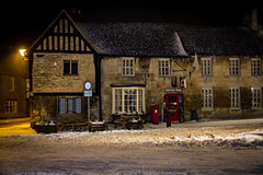 Fairford Snow (natedog13) Tags: canon 7d efs 1585 fairford cotswolds snow 2018 night weather cold winter spring coffee post