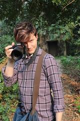 Josh taking photos (olive witch) Tags: 2018 abeerhoque camera ccu day garden india jan18 january kolkata male outdoors tree