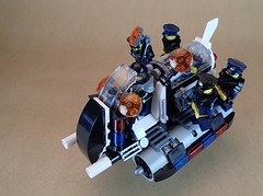 """Adjudicator"" Rapid Response Speeder With CryoLok Incarceration Pod (Greeble_Scum) Tags: lego future city police speeder bike hover vehicle cyber punk mini figure moc build creation enforce"