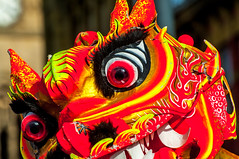 Scary Face (Tony Shertila) Tags: liverpool england unitedkingdom gbr europe britain mersey merseyside new year chinese dragon red face eye