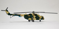Mil Mi-8 Hip (4) (Dornbi) Tags: lego helicopter rotors mil mi8 hip soviet mi17