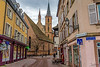 Peaceful France (Tony_Brasier) Tags: france location lovely very raw road church sigma sky bluesky buildings shops nikond7200 1750mm fun flickr
