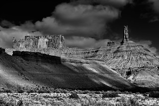 Castleton Tower and a Look of the American West (Black & White)