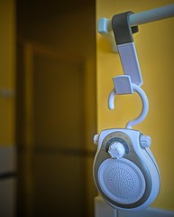 Photo#30-Radio Station (Feeling Better...Still Slow To Comment!) Tags: 365the2018edition radio white grey hanging bathroom 3652018 day30365 30jan18
