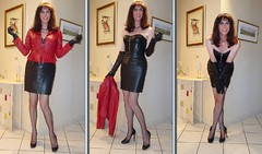 R&B or/ou R&N (french_lolita) Tags: black red leather skirt jacket