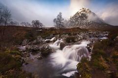 Buachaille Etive Mòr (willblakeymilner) Tags: buachaille etive mòr glencoe glen nikon d810 nikkor haida water waterfall scotland uk mountains mountain rocks nature river sunlight