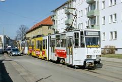 GER_350_200403 (Tram Photos) Tags: gera tram tramway strasenbahn ckd tatra ktnf8 gvb