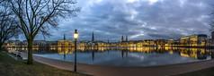 Hamburg Binnenalster (Duke.Box) Tags: hamburg hamburgerfotofreaks binnenalster alster panorama blaue stunde